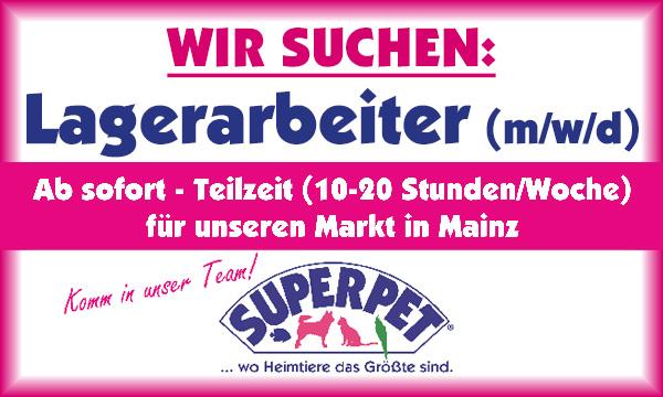 Superpet Mainz sucht Lagerarbeiter